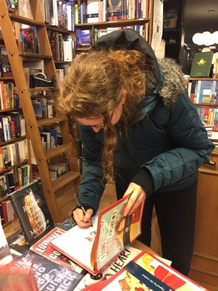Signing books in Toppings and Co., St Andrews, March 2018