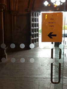 Entrance to The Occult Turn conference, September 2018