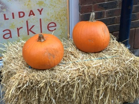 Pumpkins out for Halloween in York, Oct 2018
