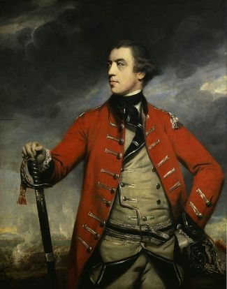 Portrait of British General Burgoyne by Joshua Reynolds from 1766