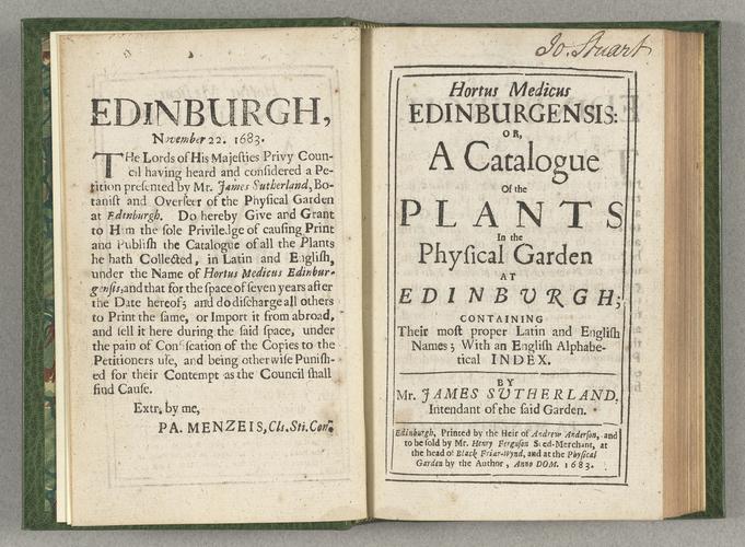 Edinburgh Plant Catalogue