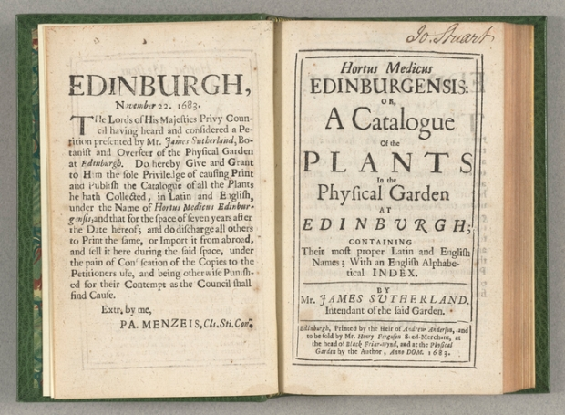 Edinburgh Plant Catalogue